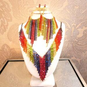 🌈BUNDLE ALERT Natasha Rainbow Necklace/Earrings